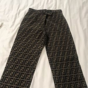 Vintage Fendi Logo pants